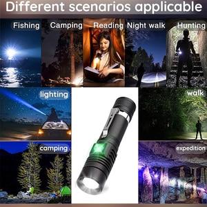 Image 5 - 6000 ลิตรไฟฉาย LED Ultra Bright USB linterna ไฟฉาย LED T6/L2/V6 lanterna Power เคล็ดลับจักรยานชาร์จ 18650