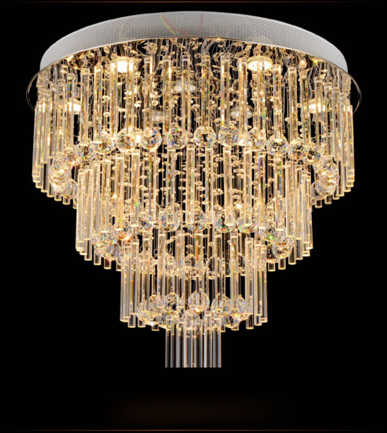 ZYYModern Simple Round Crystal Pendant Lamp Living room Bedroom LED Ceiling Lamp Restaurant Lights GU10 D60H70cm Free Shipping a1 master bedroom living room lamp crystal pendant lights dining room lamp european style dual use fashion pendant lamps