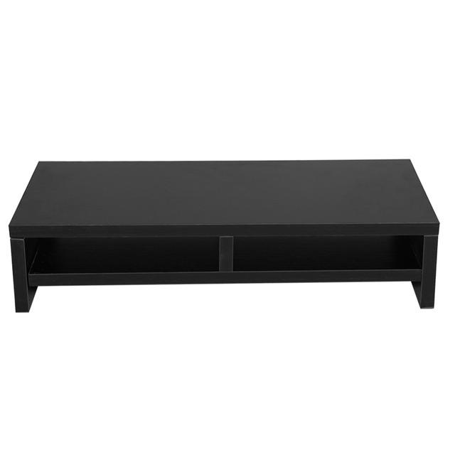 Desktop Monitor Stand Brackets LCD TV Laptop Rack Computer Screen Riser Shelf Platform Office Desk Black White Optional