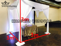 3m*3m*3m Cube Wedding Backdrop Curtain Mandap Wedding Tent for Event Party Decoration