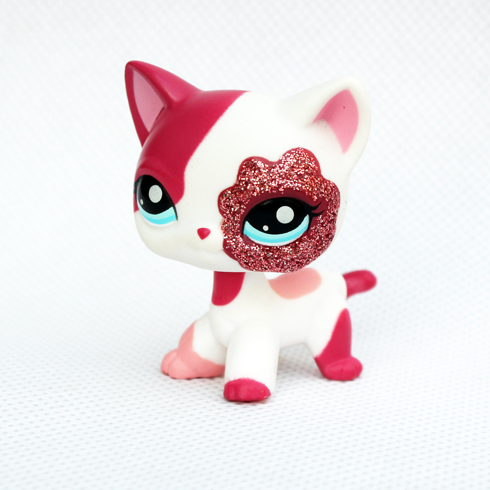 Special Price Rare Original Pet Shop Lps Toys Standing Short Hair Cat #2291 With Shining Red Eys Pink Kitty