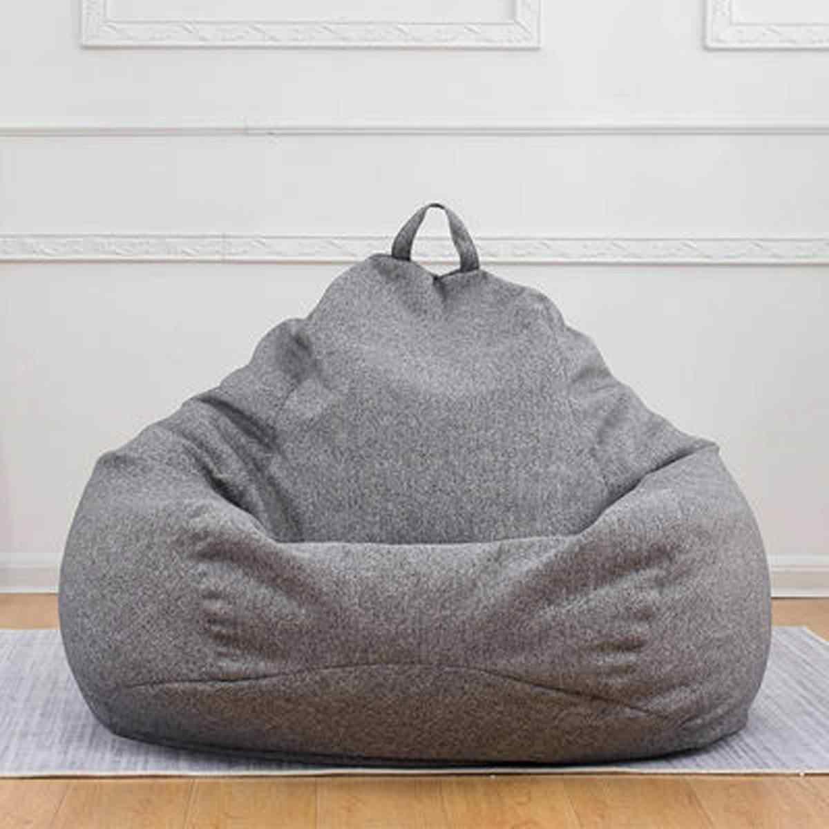 120x120 CM Grote Zitzak Sofa Stoel Cover Lounger Poef Zetel Woonkamer Meubels Zitzak Bed Poef Bladerdeeg bank Lazy Tatami