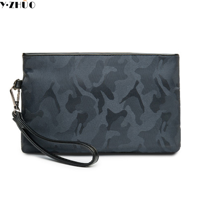 Causal Waterproof Nylon Clutch Bag Men Wallets Luxury Brand Long Wallet Purse Wristlet Male Messenger