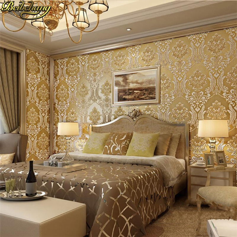 beibehang papel parede 3D European Damask Wallpaper for living room Embossed Luxury Damask Floral Wall paper Textured bedroom chiaro подвесная люстра chiaro версаче 639012712