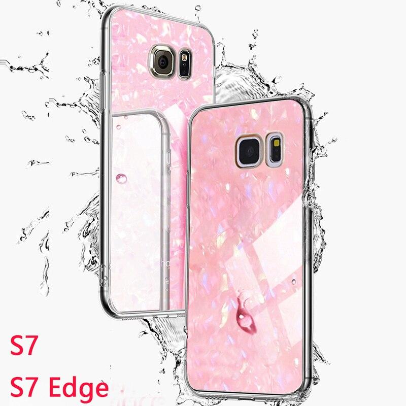 2 IN 1 Coque,Cover,Case,For Samsung Galaxy S7 S 7 Edge S7edge Glitter Pc Silicone Silicon On Phone Back Hard Etui