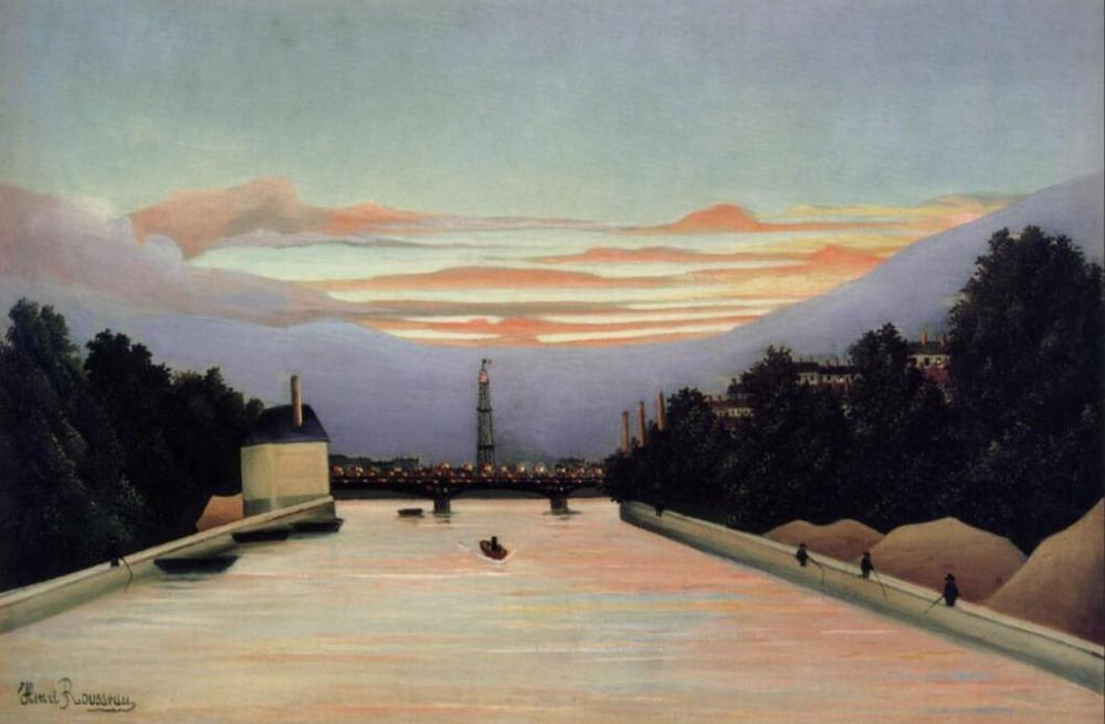 High quality Oil painting Canvas Reproductions The Eiffel Tower (1898) by Henri Rousseau painting hand paintedHigh quality Oil painting Canvas Reproductions The Eiffel Tower (1898) by Henri Rousseau painting hand painted