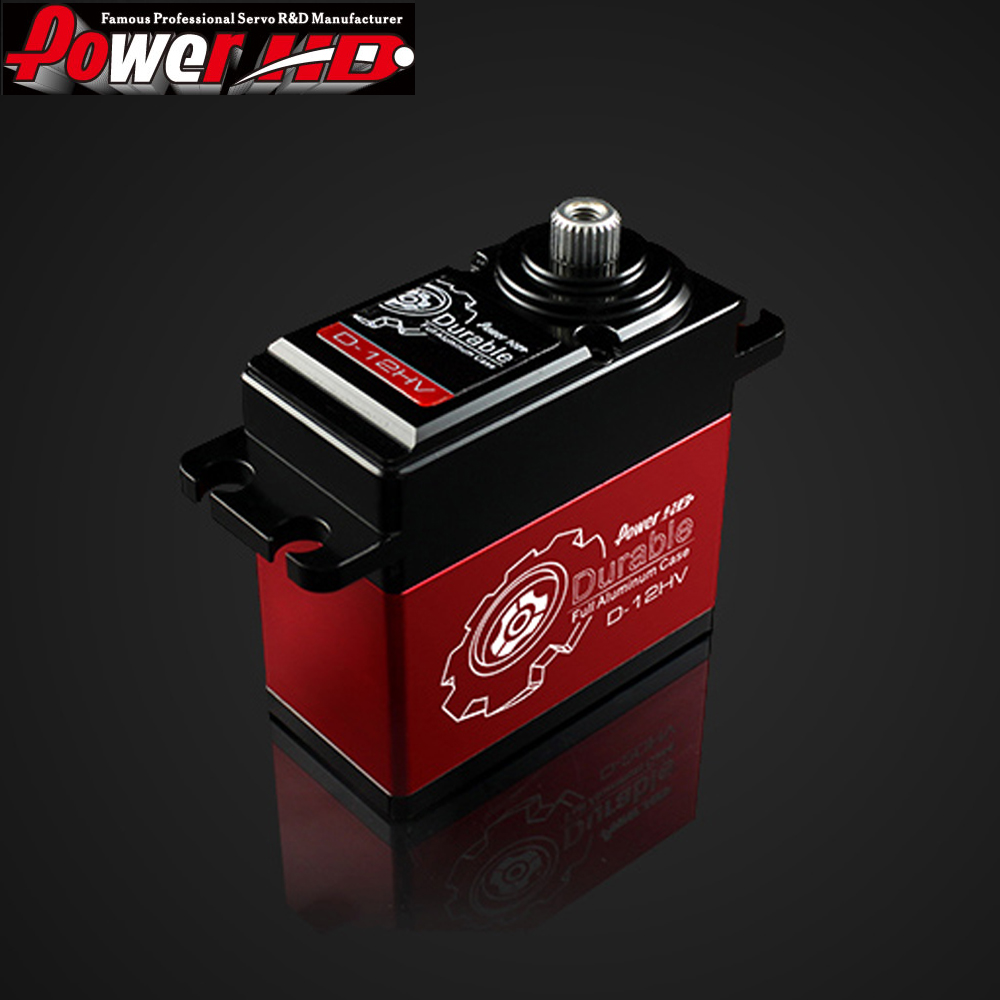 1pcs POWER HD D-12HV Coreless Digital Servo Titanium & Alu Gear Torque 12KG speed 0.06 Sec,Compatible FUTABA JR SAVOX