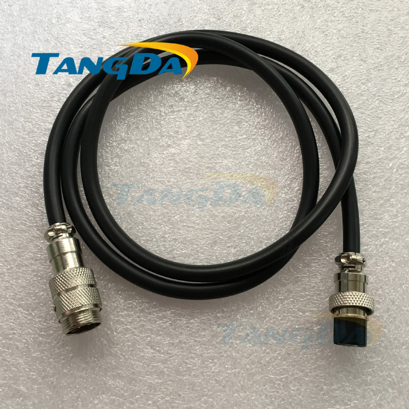 connectors GX16-2 3 4 5 6 7 8 9 pin core P16mm M16 DF16 YL16 With Wire Butt joint extension cord straight plug male to female A. 1set gx16 2 3 4 5 6 7 8 9 pin male