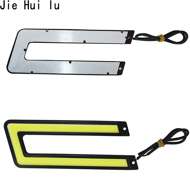 Image 2 - 2pcs 14CM Daytime Driving Fog Lights Vehicle Daytime Running Light COB LED Car Lamp External Lights Auto Waterproof Car Styling-in Signal Lamp from Automobiles & Motorcycles