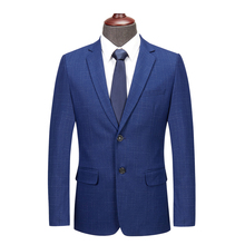 лучшая цена 2019 new small suit men's fashion two single-breasted business casual large size suit S-4XL men's slim casual suit jacket
