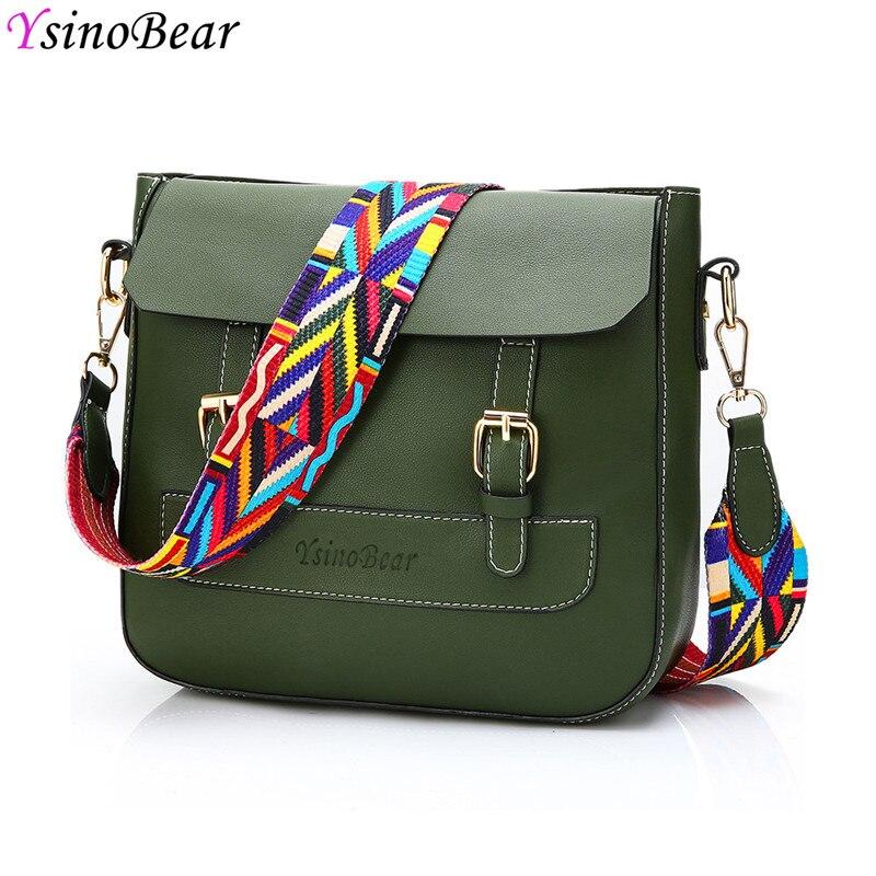 YsinoBear 2 шт./компл. Crossbody сумки для Для женщин 2018 женские сумки на плечо Сумки Для женщин известных брендов Зеленый Кожа Композитный сумка