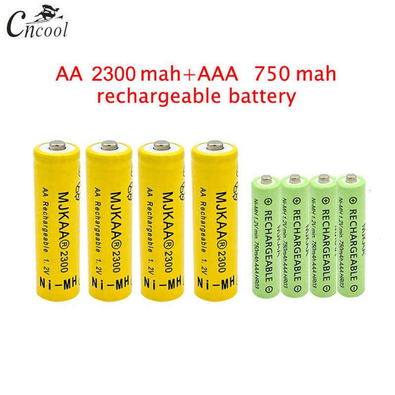 20 pcs AA 2300mAh Ni-MH Rechargeable Batteries + 20 pcs AAA 750mAh Rechargeable Batteries
