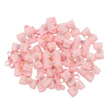 20/50pcs Wholesale Dog Hair Bows with Rubber Bands Bowknots Accessories for Long Pets Red Pink Blue Purple Yellow