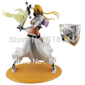 "Japanse anime Bleach Sexy Girl Figurine Arrancar Tercera Espada Lacrima Halibel 9.2 ""PVC action figure trasporto libero dei giocattoli"
