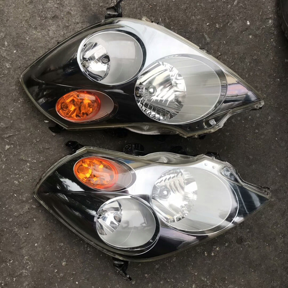 Front Chrome Clear Car Headlights for Honda Stream RN3 RN5 2001 2002 2003 2004 2005 Car