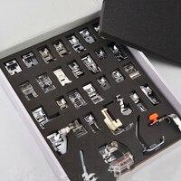 2018 New 32pcs/set Sewing Machine Presser Foot Braiding Blind Stitch Darning Presser Feet Kit Set for Brother Singer Janome