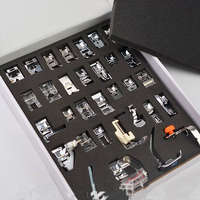 2019 New 32pcs/set Sewing Machine Presser Foot Braiding Blind Stitch Darning Presser Feet Kit Set for Brother Singer Janome