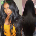 180 Density Silky Straight Full Lace Wig With Baby Hair Glueless Virgin Brazilian Full Lace Front Wigs Human Hair Bleached Knots