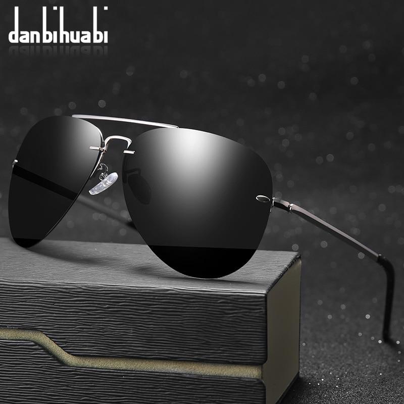 New Rimless Polarized Sunglasses