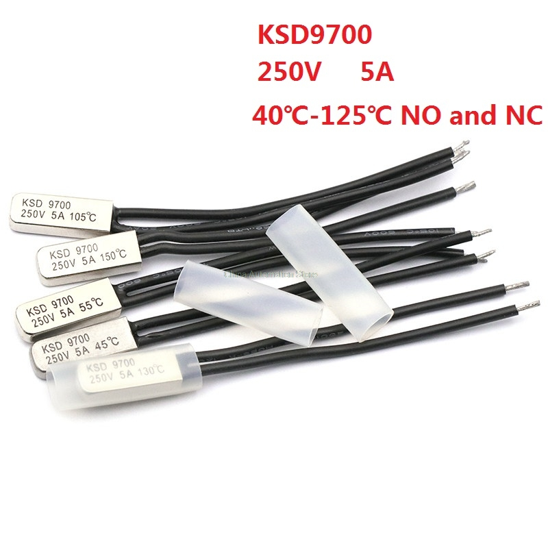 70C Bimetal Thermostat Temperature Sensor Control Switch 2PCS 250V 5A NC