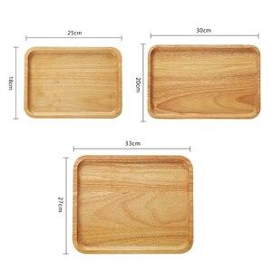 Деревянная тарелка поднос Большой Кофе Чай поднос торт сервировка десерта тарелка посуда деревянный поднос кухня деревянная посуда