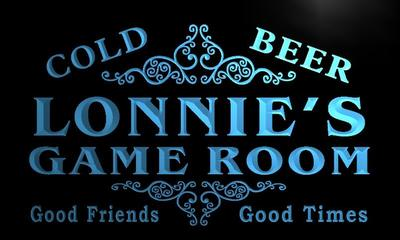 x0241-tm Lonnies Game Room Beer Bar Custom Personalized Name Neon Sign Wholesale Dropshipping On/Off Switch 7 Colors DHL