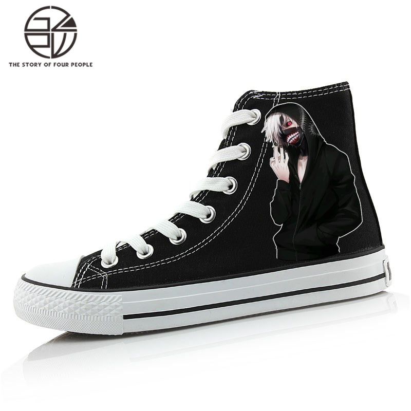 Gzpw cosplay Tokyo Ghoul 2018 men's new canvas shoes new Korean Edition couple shoes comfortable and hot USA size35-43