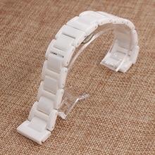 Ремешки 16 мм 18 мм 20 мм белый высокое качество керамические часы ремень браслеты для мужской леди часы