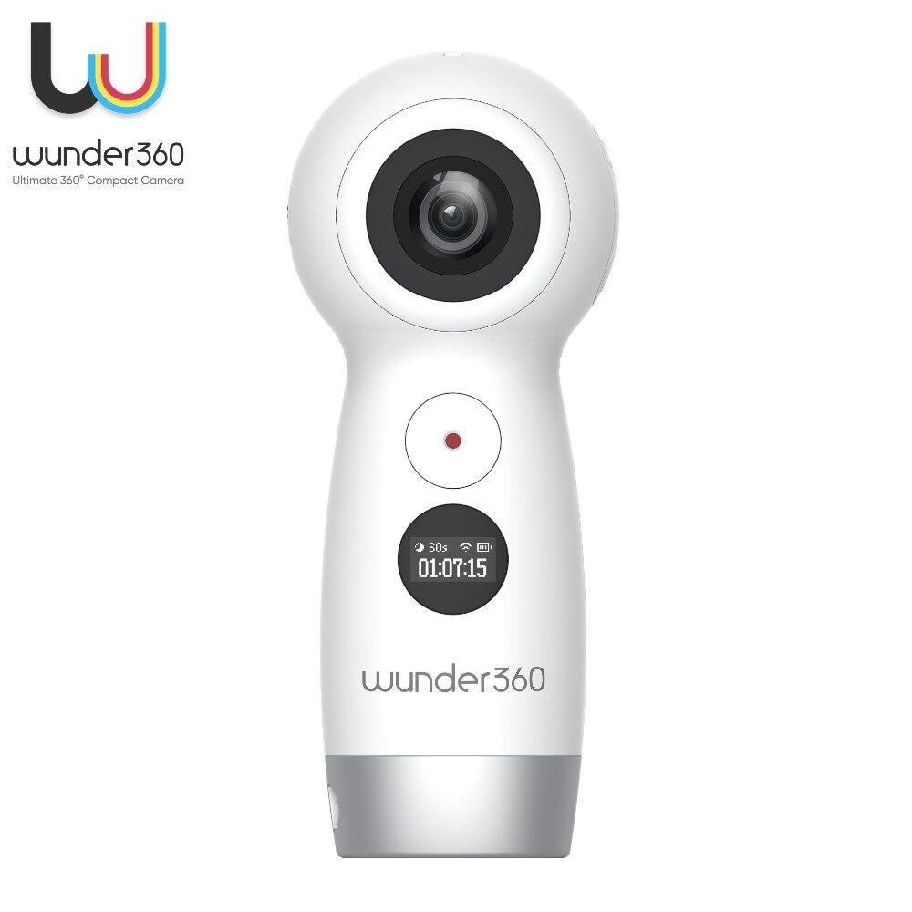 Wunder360 Wifi Caméra 360 Degrés Panoramique Full HD 4 K Double-lentille Vidéo Cam Large Angle de Vue fotocamera Mini Cam pour oppo/Xiaomi