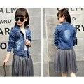 China 2PCS Children Spring Cotton Girls Clothing Sets Fashion Denim Dress Coat & Skirts 2Pcs Kids Clothing For 9-14Y Girls