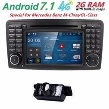 "7 ""CarGPS Navigation forMercedes Benz ML W164 GL ML300 ML350 DVD Radio Android7.1 iPod WIFI 4G USB SD CAM-IN OBD2 DAB + Reverse Cam"
