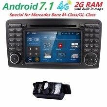 7″CarGPS Navigation forMercedes Benz ML GL W164 ML300 ML350 DVD Radio Android7.1 iPod WIFI 4G USB SD CAM-IN OBD2 DAB+Reverse Cam