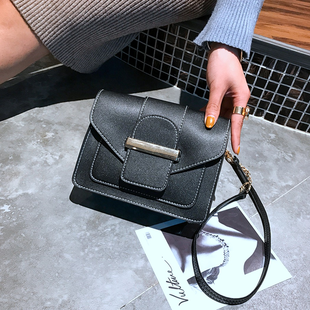 2018 New Cute Print Casual Women Bag Women Lovely Messanger Crossbody Bag Small Square Leather Shoulder Bag