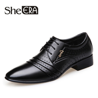 Brand New Arrival Men Business Dressing Buckle Single Shoes Breathable Black Casual Shoes England Lace Plaid Glossy Shoes Men