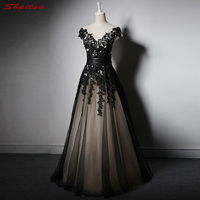 Black Mother of the Bride Dresses for Weddings A Line Evening Gowns Groom Godmother Dresses