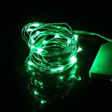 Светодиодный гирлянды 2 м 20 светодиодный Медный провод Фея Света Рождество Свадебная вечеринка украшения приведенный в действие CR2032 Батарея