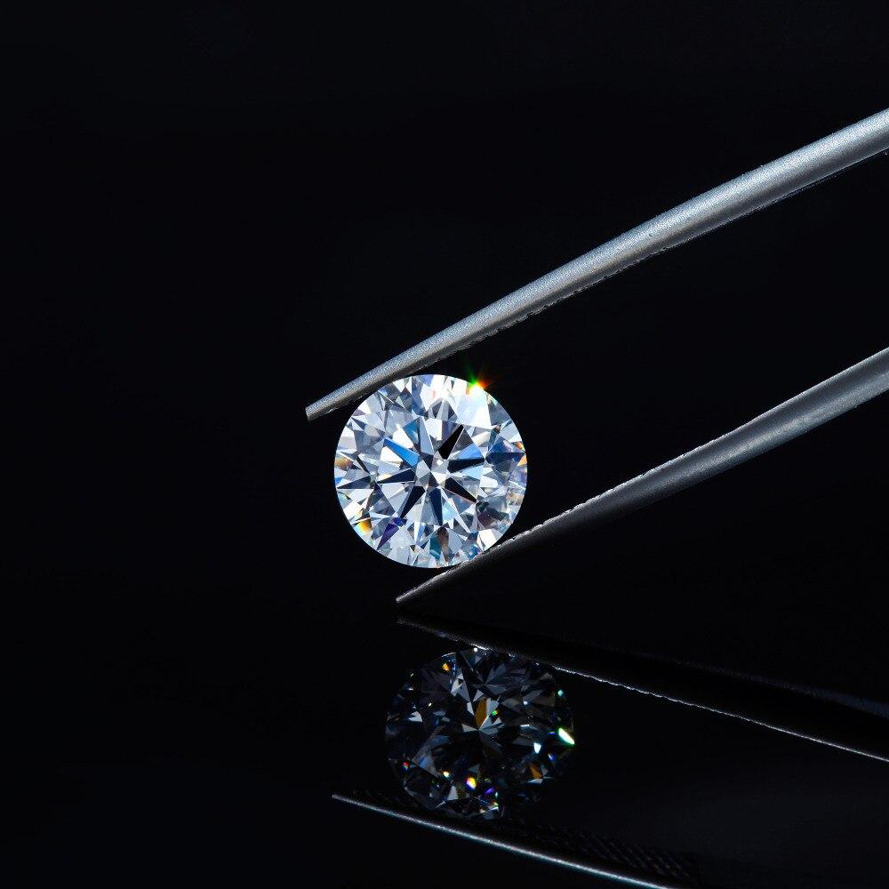 Transgems 1 Piece D Color Excellent Hearts and Arrows Cut Moissanites 5 0mm Moissanite Diamond Loose