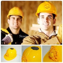 Brand New Solar Safety Helmet Hard Ventilate Hat Cap Cooling Cool Fan Engineer Worker Hat Great Gift New K55-2