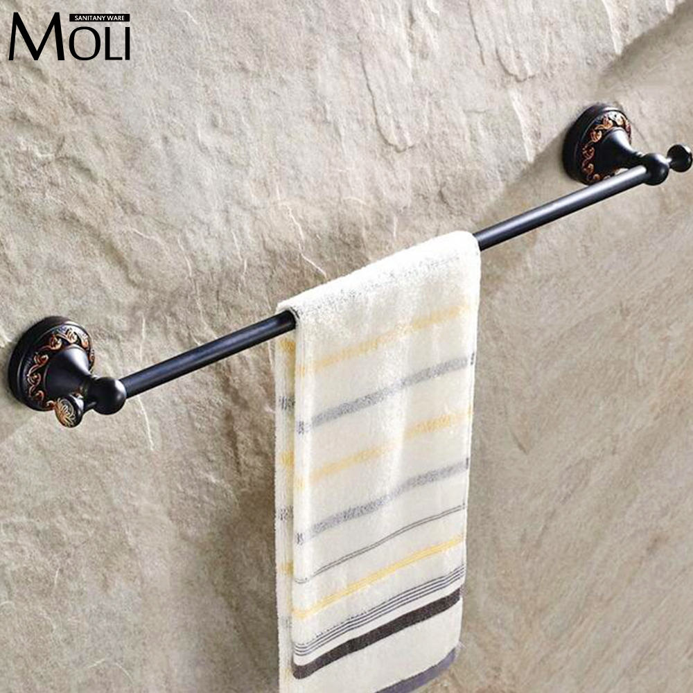 Black bathroom shelf wall mounted single towel bar soild brass oil rubbed bronze towel holder towel rack hanger. Towel Bars Brass Promotion Shop for Promotional Towel Bars Brass