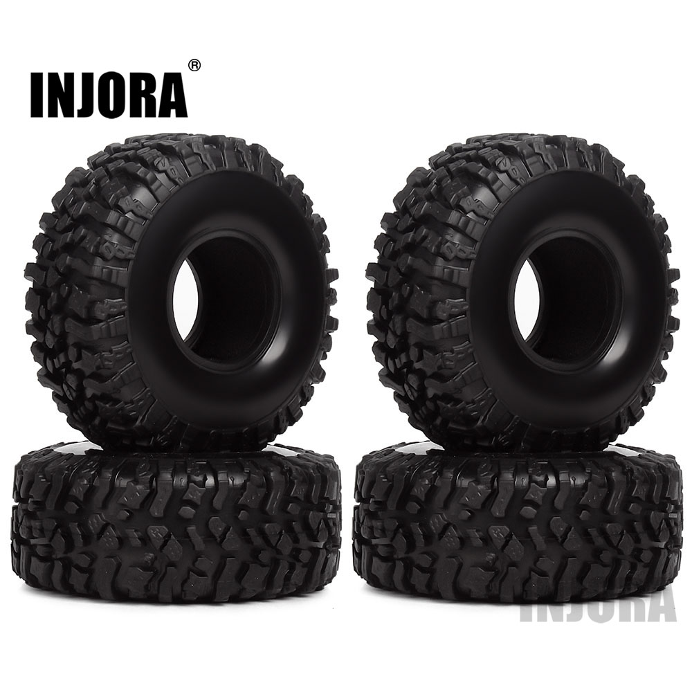 INJORA 4PCS 120*45mm 1.9 Rubber Tires Wheel Tyre For 1/10 RC Crawler Traxxas TRX4 Axial SCX10 90046 AX103007