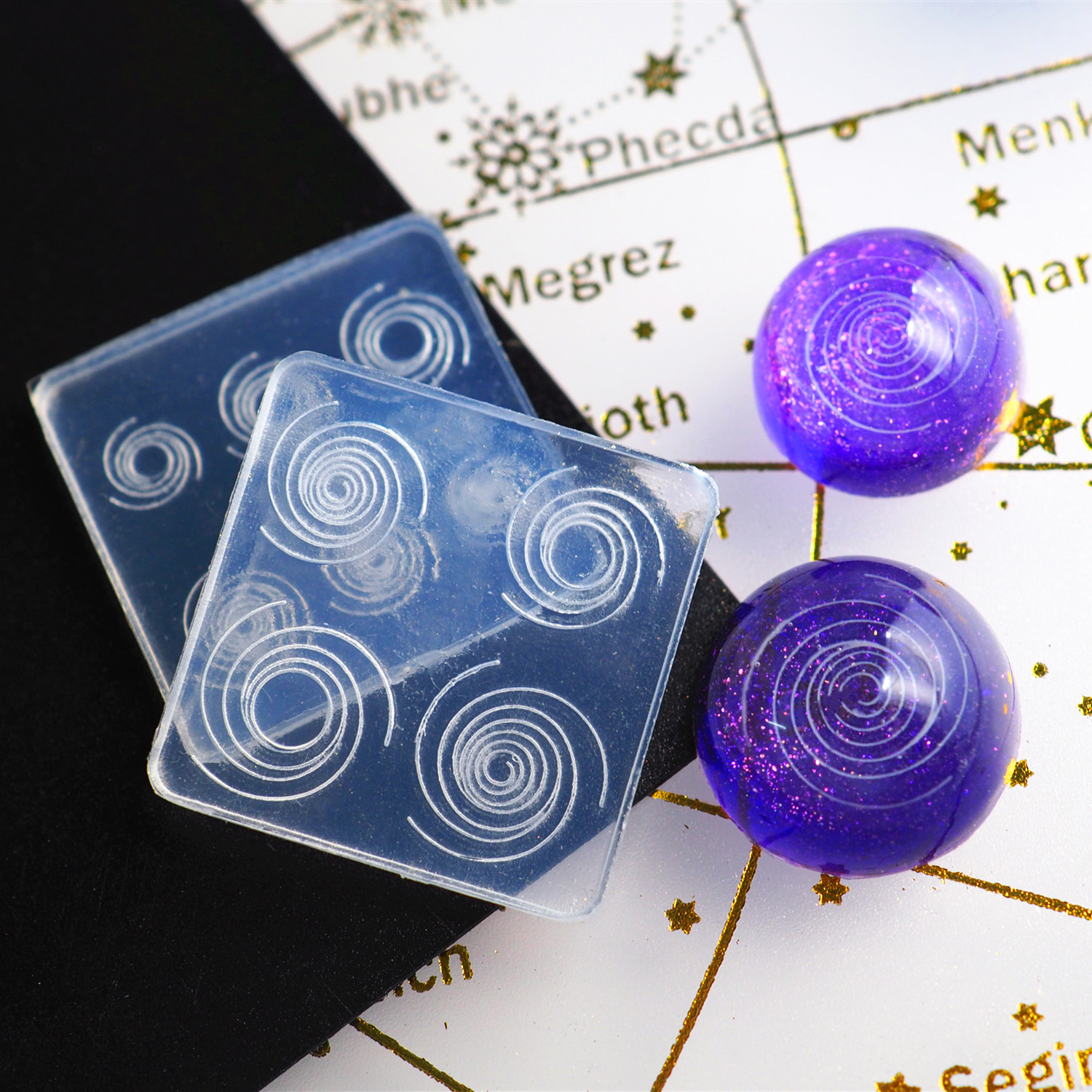1PC Sky Spiral  Shaped Jewelry Tool Jewelry Mold UV Epoxy Resin Silicone Molds For Making Jewelry