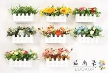1 Σετ Υψηλής Ποιότητας Τεχνητή Διακόσμηση Λουλουδιών Ξύλινο Βάζο Φράχτη με λουλούδια Αρχική Σελίδα Γάμος Διακόσμηση Κόμματος Δώρο Γενεθλίων F468