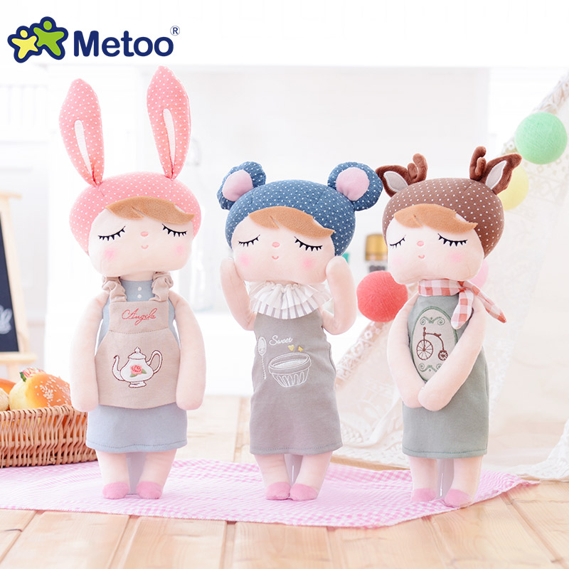 Metoo Kawaii Plush Stuffed Animal Cartoon Kids Toys for Girl Children Baby Birthday Christmas Gift Angela Rabbit Girl Metoo Doll bamboo big hoop earrings
