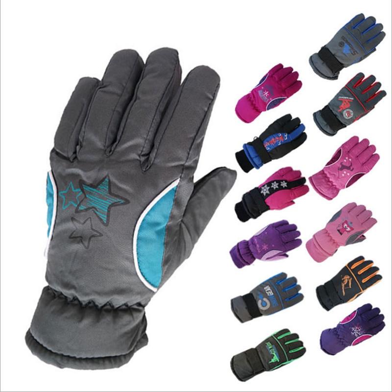Apparel Accessories 1 Pair Kids Winter Gloves Waterproof Warm Mittens Toddler Children Boys Girls Outdoor Ski Gloves Thick Fashion Gloves