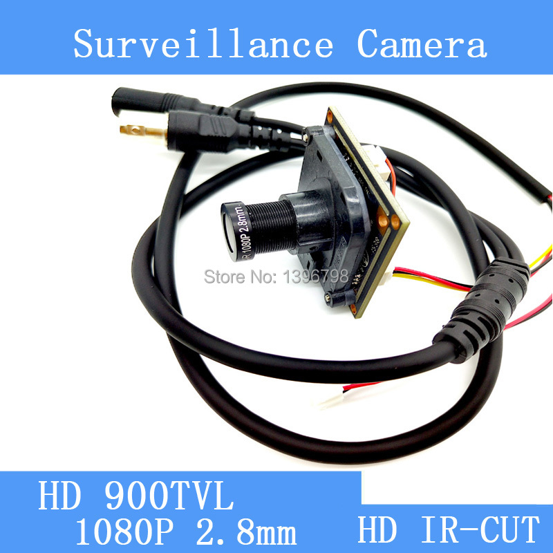 HD Color CMOS 900TVL CCTV Camera Module 1080P 2.8mm Lens IR-CUT dual-filter switch surveillance cameras hkes 8pcs lot hd cmos color 1200tvl built in ir cut filter analog camera module with cs lens 8mm