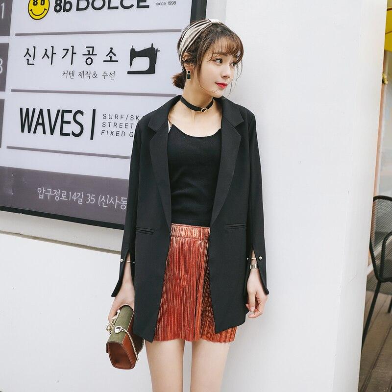 Marée Femelle Lâche Black Costume 2018 Nouvelle La Femmes Section Mince Printemps Mode Était Dans Petit Casual coréen Dames Sauvage Longue aqZOxH0w