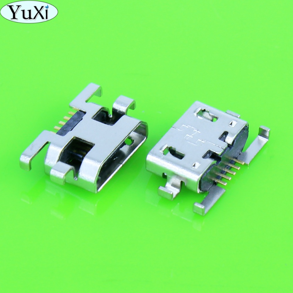 Yuxi Connector Usb-Jack Mobile-Phone Micro-Usb Mini Without 1pcs 5pin for Insertion Curling-Side