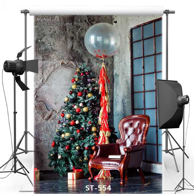 MEHOFOTO Christmas Tree Vinyl Photography Background Window New Fabric Flannel Backdrops for Children photo studio ST554 vinyl photography background backdrop for wedding concrete wall new fabric flannel background for children photo studio 774