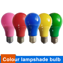E27 LED Bulb Colorful Lampshade Lampara Led lamp AC85-265V Home Bar Party Festival Decorative Lighting