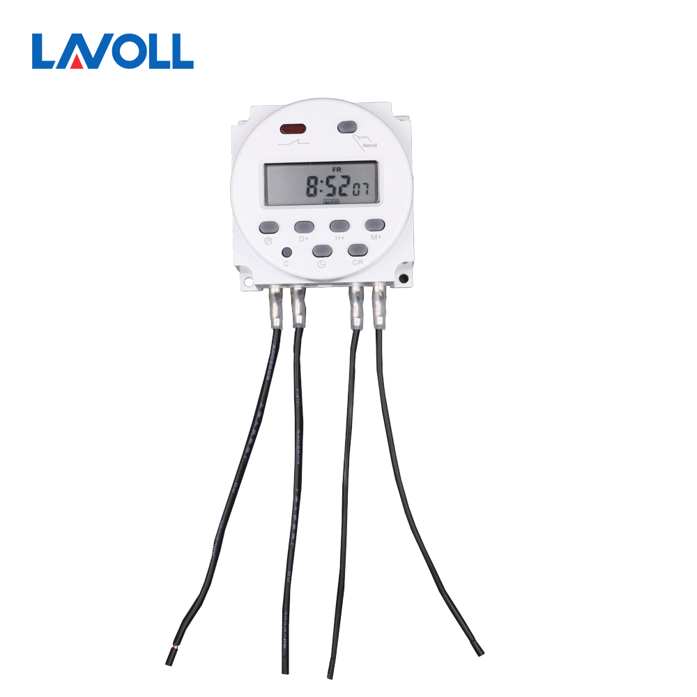 programmable light timer with 4 pcs wire timer relay